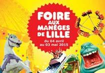 Foire aux manèges de printemps de Lille 2015 du samedi 04 avril au dimanche 03 mai 2015
