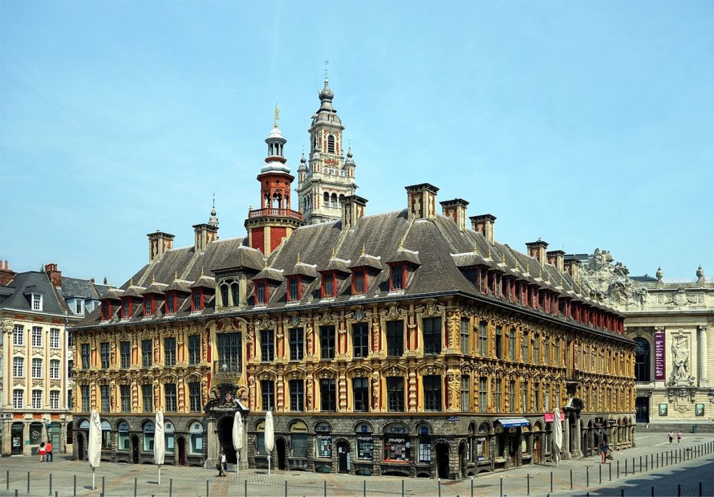 La vieille bourse in Lille its 24 houses classified as historic monuments